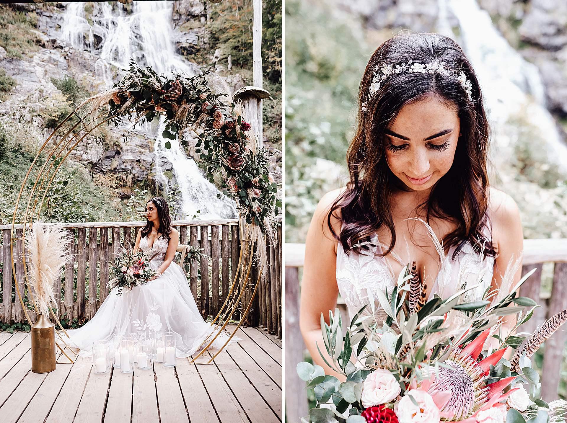 Hochzeit vor den Totdnauer Wasserfällen